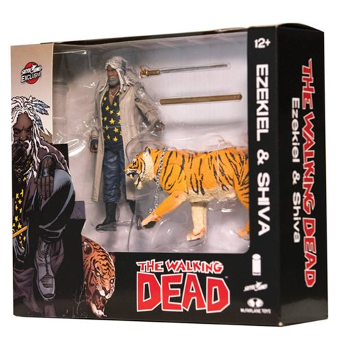 Walking Dead Comic Ezekiel & Shiva All Out War Figure 2-Pack