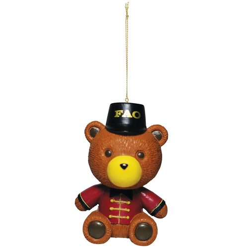 FAO Schwarz Bear Holiday Ornament