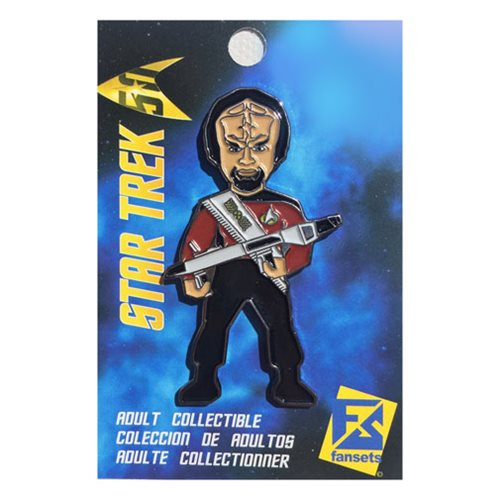 Star Trek Worf Red With Phase Rifle Pin