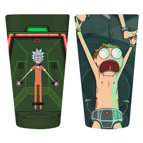 Rick and Morty 16 oz. Pint Glass 2-Pack