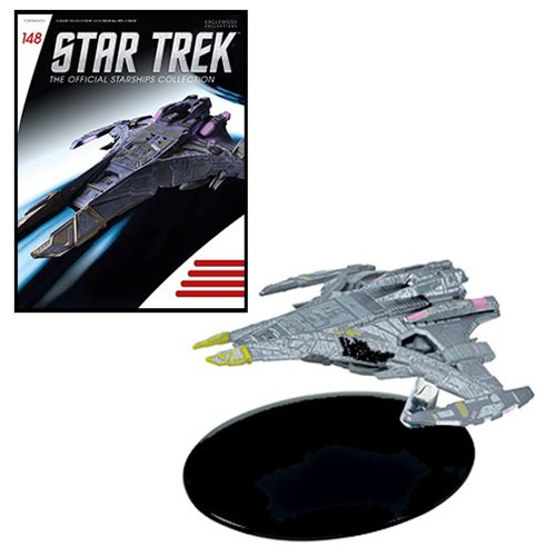 Star Trek Starships Jem Hadar Battleship Vehicle with Collector Magazine #148