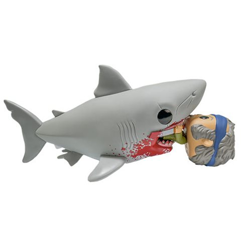 Jaws Eating Quint Deluxe Pop! Vinyl Figure - 2019 Convention Exclusive