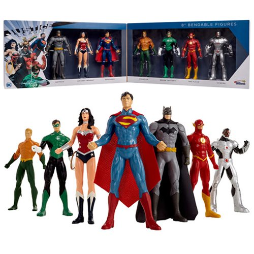 Justice League New 52 8-Inch Bendable Action Figure Boxed Set