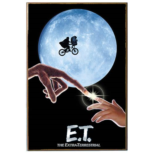 E.T. the Extra-Terrestrial Movie Poster Wood Wall Artwork