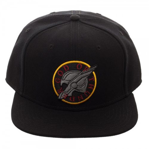 Thor: Ragnarok God of Thunder Black Snapback Hat