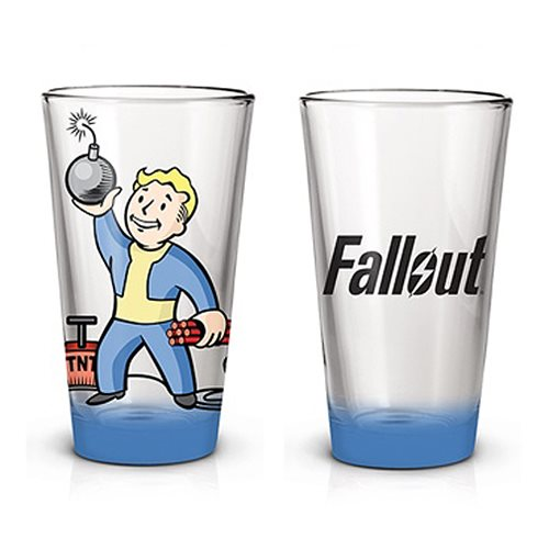 Fallout Vault Boy Bomb Pint Glass