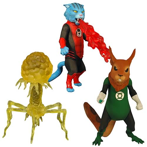 Green Lantern Animals Dex, Desportellis, and B'dg Figures
