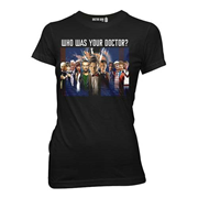 Doctor Who 12 Doctors Montage Black Juniors T-Shirt