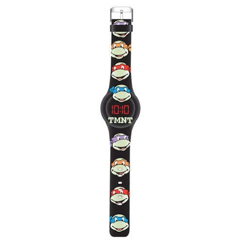 Teenage Mutant Ninja Turtles Glow In The Dark Faces LED Watch