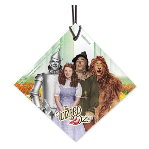 Wizard of Oz Foursome StarFire Prints Hanging Glass Ornament