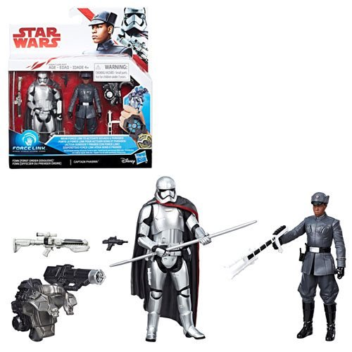 Star Wars: The Last Jedi Finn (First Order Disguise) vs. Captain Phasma 3 3/4-Inch Figures - Exclusive, Not Mint