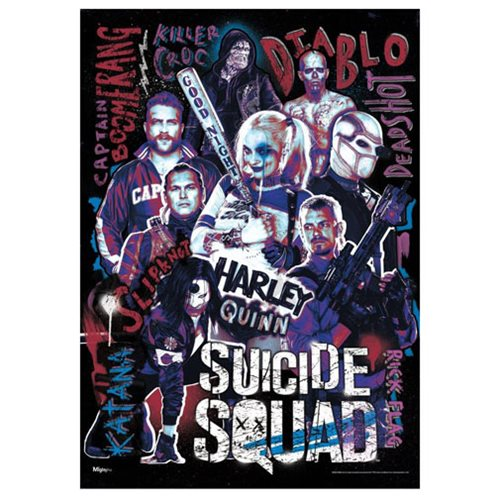 Suicide Squad Unlikely Heroes MightyPrint Wall Art Print