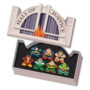 Justice League Mighty Meeples Hall of Justice Collection Mini-Figure Tin Set
