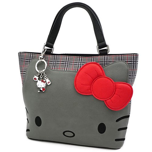 Hello Kitty Grey Plaid Tote Purse