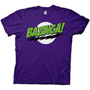 Big Bang Theory Bazinga! Purple/Green T-Shirt