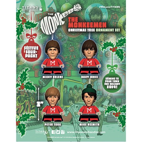 The Monkees TITAN Figure Ornament 4-Pack