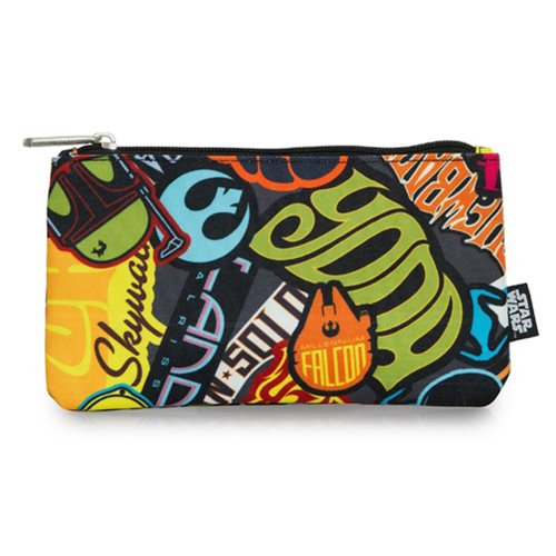 Star Wars Stickers Print Travel Cosmetic Bag
