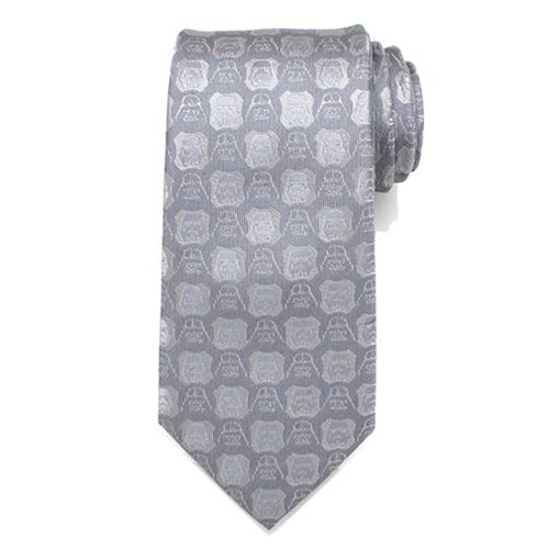 Star Wars Darth Vader and Stormtrooper Gray Mens Silk Tie