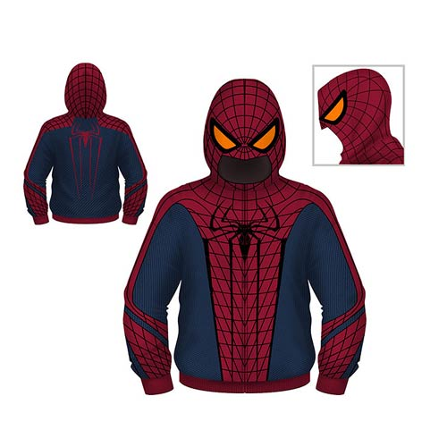 Spider-Man Juvy Hooded Costume Fleece Zip-Up Sweatshirt