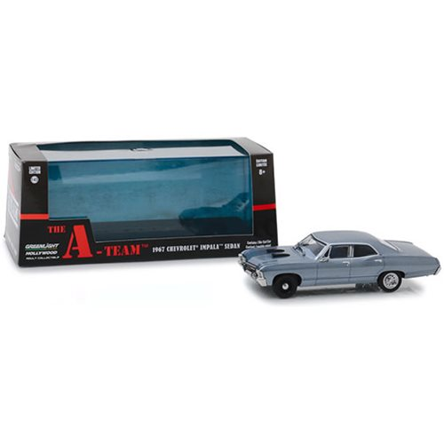 The A-Team 1983 - 1967 Chevrolet Impala Sport Sedan 1:43 Scale Die Cast Metal Vehicle