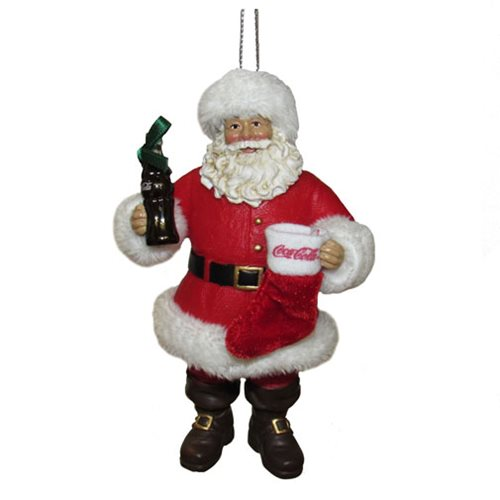 Coca-Cola Santa with Stocking 4-Inch Ornament