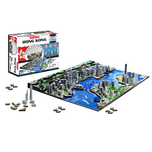 Hong Kong China 4D Puzzle