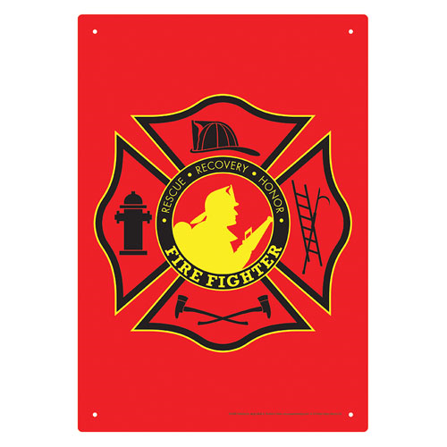 Firefighter Tin Sign