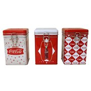 Coca-Cola Square Lock-Top Tin Set