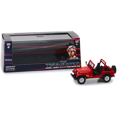 The Terminator 1984 Sarah Connor's 1983 Jeep CJ-7 Renegade' 1:43 Scale Die Cast Metal Vehicle