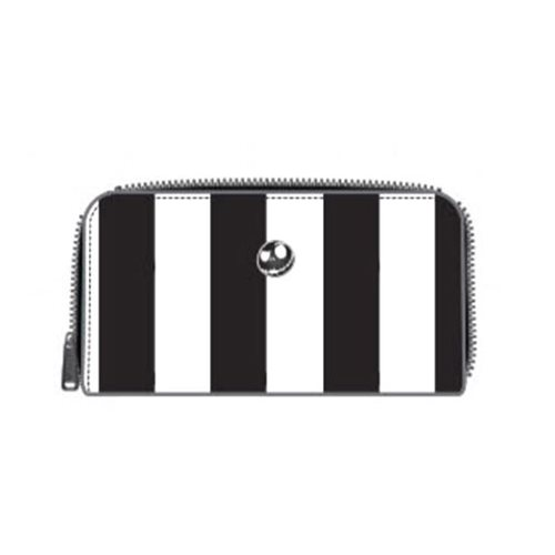 Nightmare Before Christmas Striped Zip-Around Wallet