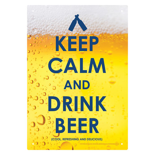Keep Calm Beer Tin Sign