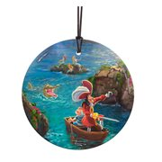 Peter Pan Captain Hook and Mr. Smee StarFire Prints Hanging Glass Ornament