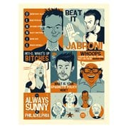 It's Always Sunny in Philadelphia Always Quoting by Ian Glaubinger Lithograph Art Print