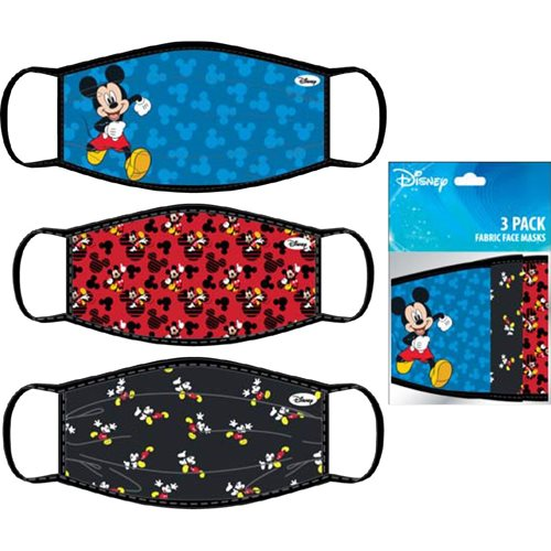 Mickey Mouse Child's 3-Pack Face Masks