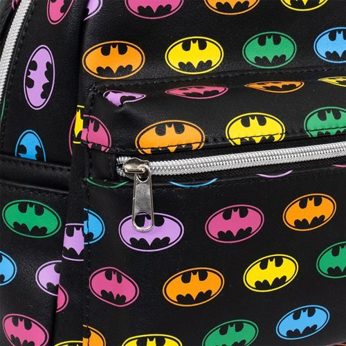 Batman Rainbow Logo Mini-Backpack - EE Exclusive