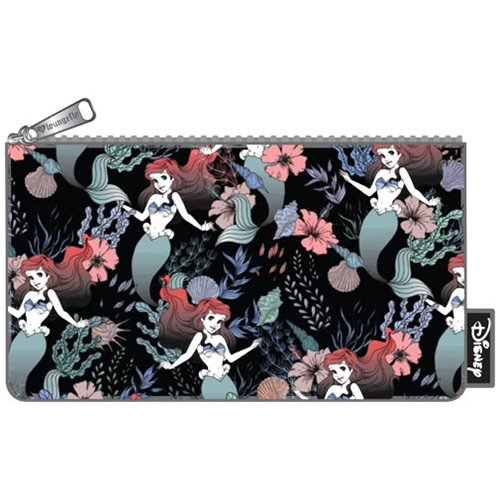 23ec5cc9275 The Little Mermaid Ariel Floral Print Pencil Case - Entertainment Earth