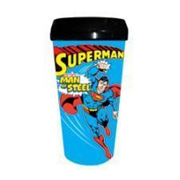 Superman Man of Steel DC Comics 16 oz. Plastic Travel Mug