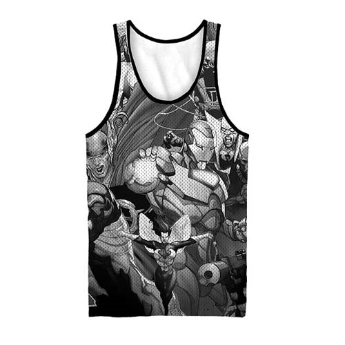 Marvel Team-Ups Black and White Sublimated Tank Top