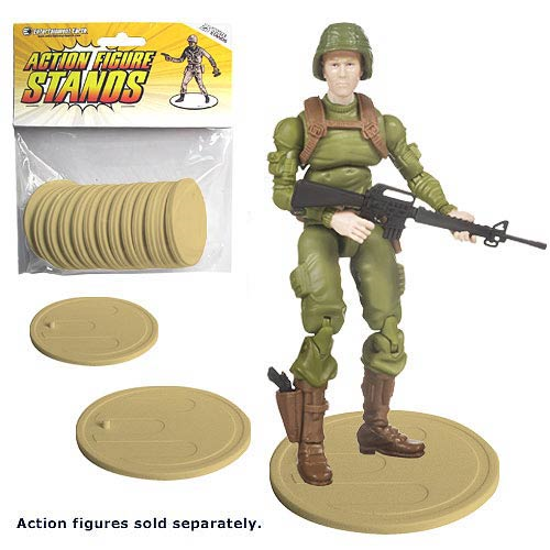 Action Figure Stands 25-Pack - Tan