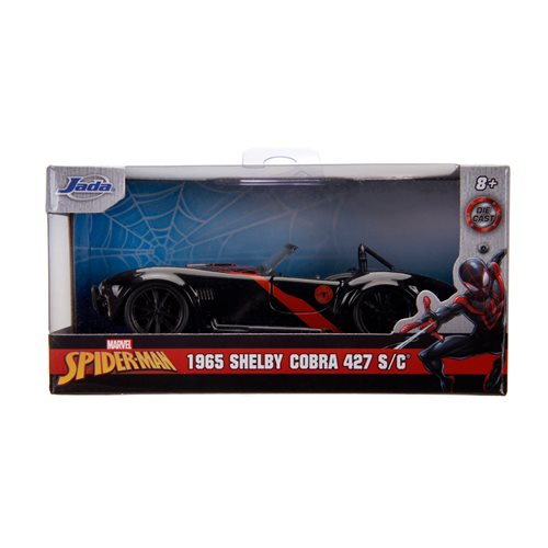 Marvel Hollywood Rides Miles Morales Spider-Man 1965 Shelby Cobra 427 1:32 Scale Die-Cast Metal Vehicle