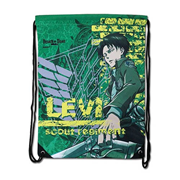 Attack on Titan Levi Green Drawstring Bag