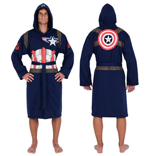 8a2cfd65ff Marvel Captain America Blue Jersey Bathrobe - Entertainment Earth