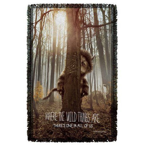 Where the Wild Things Are Wild Thing Tree Woven Tapestry Throw Blanket
