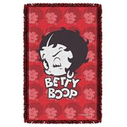 Betty Boop Forty Winks Woven Tapestry Throw Blanket
