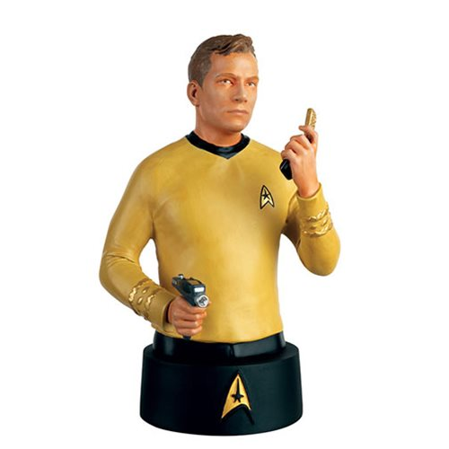 Star Trek Bust Collection Captain Kirk with Collector Magazine #1, Not Mint