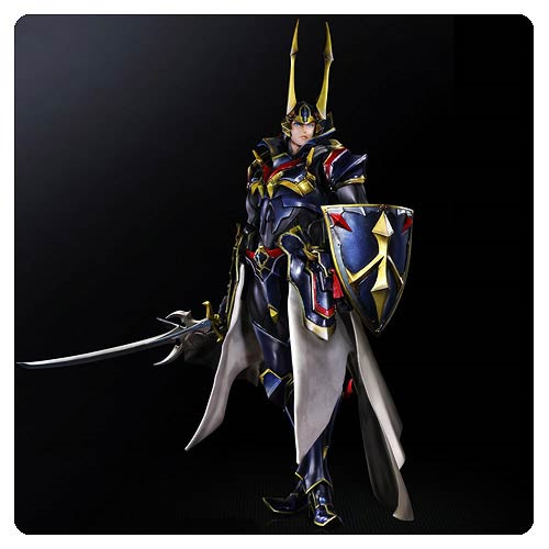 Final Fantasy Heroes of Light Warrior with Blue Armor Variant Play Arts Kai Action Figure