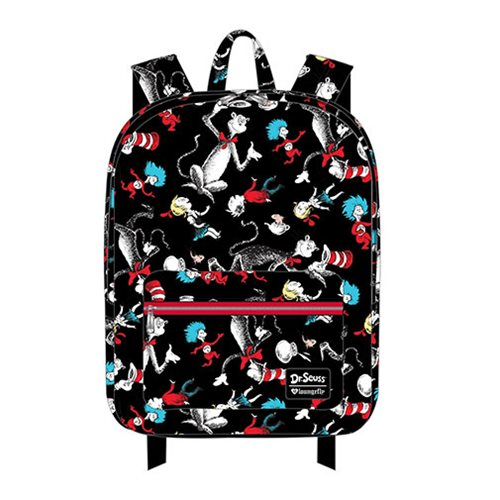 Dr. Seuss Cat in the Hat Characters Print Nylon Backpack