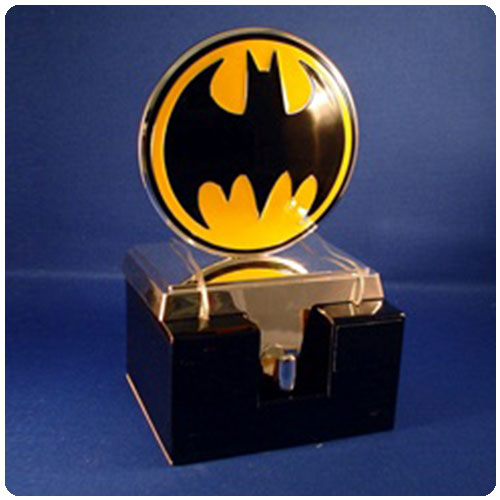 batman bat symbol christmas stocking hanger statue