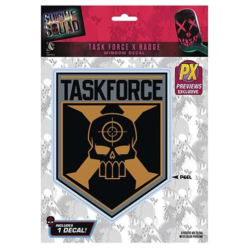 Suicide Squad Taskforce X Logo Decal - Previews Exclusive