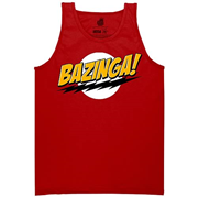 Big Bang Theory Bazinga Red Tank Top